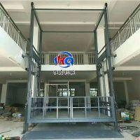 济南恒启 厂家销售 河北 SJD2-7.5米链条导轨式升降货梯 升降机 固定液压升降台