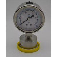全不锈钢隔膜耐震卫生型压力表