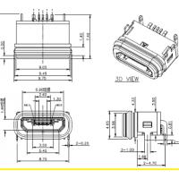 防水MICRO USB 防水等级IP68 B-TYPE板上型 可过3A电流