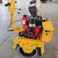 手扶单钢轮压路机做工细腻,弗斯特单轮振动小碾子操作简单