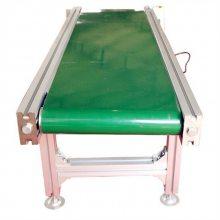餐具用水平输送机 铝合金皮带输送机生产厂家