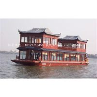 楚风木船 厂商直销16米旅游观光船 水上餐饮船 商务画舫船供应