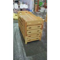 幼儿园实木叠落床进口松木儿童床上下床幼儿园四层抽拉床宝宝午睡床