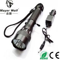 厂家批发 led充电强光手电筒 户外照明骑行500远射车载
