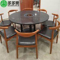 实木牛角椅 布艺软包皮质餐厅椅子 高档使用餐椅定做工厂