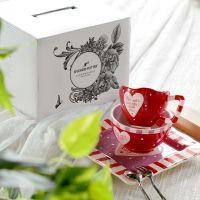 手绘陶瓷可爱家居餐具套装创意闺蜜礼物乔迁送礼杯碗盘碟爱在生活