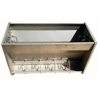 新型不锈钢料槽双面十孔单面保育双面育肥猪使用