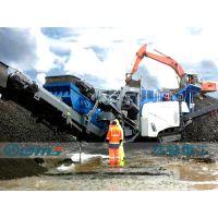 移动式建筑垃圾破碎机,建筑垃圾移动破碎站厂家环球重工