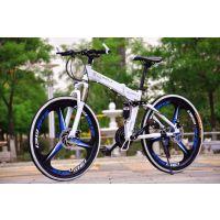 促销BMX6山地自行车可折叠超轻一体轮26寸秒杀宝马山地车学生