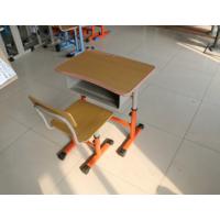 文学士学生可升降课桌椅 高档简约现代风格 钢木材质 河北厂家直销 阅读书桌