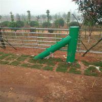 热镀锌喷塑缆索护栏价格@景区柔性护栏安装@绳索护栏配件