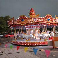 16座转马 豪华转马 格郑州格林专业制造儿童庙会游乐设备