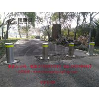 武汉半自动升降路桩 防冲撞柱 自动路障批发 钢精灵阻车路桩厂家