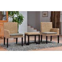 藤格格 4009 厂家批发现代中式天然实木中式 创意休闲阳台小桌椅三件套 藤编复古室内卧室茶几藤座椅