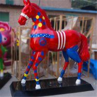 东莞雕塑厂直销仿生动物雕塑 玻璃钢马雕塑 造型逼真 耐腐蚀 可长时间摆放于户外