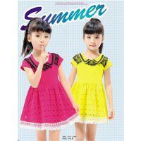 东莞夏季童装批发厂家连衣裙给你一夏的清爽动人