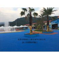 水上乐园游泳池刷漆 游泳池彩色漆是什么材料做的 防滑地坪施工