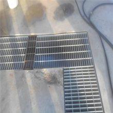 插接钢格板厂家 锯齿钢格板规格 高空作业平台踏步板