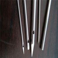 304不锈钢毛细管切断磨尖打孔折弯焊接封圆头