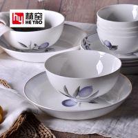 唐山骨质瓷餐具套装陶瓷定制可印logo