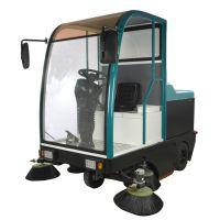 大型工厂仓库清扫地面灰尘砂石沙土专用威德尔封闭式驾驶式扫地机