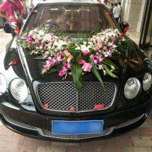 大学路中式韩式套装结婚主车鲜花15296564995大学路花店婚车车头鲜花装饰布置