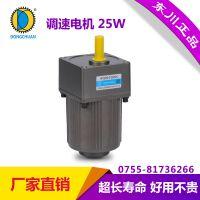 东川25W微型齿轮减速电机 单相220V交流调速定速马达