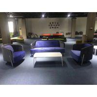 深圳龙岗华翔欧式布艺单身公寓沙发定制生产
