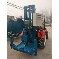 内蒙液压伸缩架打井机、打井机厂家、拖拉机带液压式钻井机