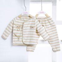 新生儿衣服纯棉婴儿衣服内衣两件套彩棉0-3个月宝宝和尚服系带服