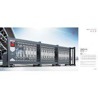 财门电动工业门伸缩折叠门 电动伸缩分段门