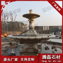 欧式水钵 石材水钵批发 优质景观石雕喷泉
