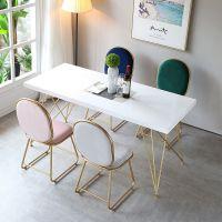 北欧实木餐桌 酒店餐厅铁艺桌椅长方形饭桌咖啡厅四人餐桌椅组合