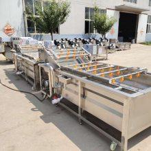 多功能果蔬清洗机 气泡清洗生产线 汇康机械厂家