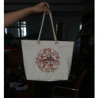 郑州帆布手提广告袋定制厂家 纯棉帆布丝印不掉色
