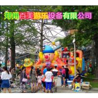安徽安庆大型充气滑梯,马戏团小丑充气蹦蹦床户外经营小朋友都选择它!