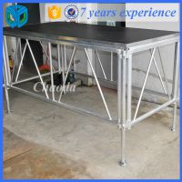 1.22*2.44m规格舞台 1.22m升降拼装舞台 铝合金材质支架 主管50*3