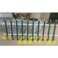厂家定做绿化带小型锌钢护栏 pvc塑钢草坪围栏小区庭院防护栅栏