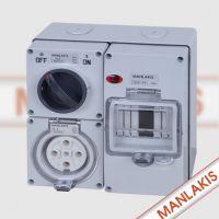 曼奈柯斯 MANLAKIS 56CV-E4001 澳标组合开关插座