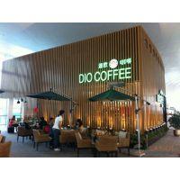 广安市迪欧咖啡厅正面墙身木纹铝方通铝扁管多少钱一米?
