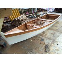 欧式木船制造厂批发供应殿宝牌手划船 实木钓鱼船 观光休闲木船