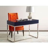 后现代风格书桌不锈钢简约写字台别墅定制家具