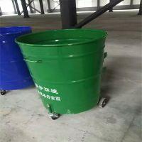 环卫铁垃圾桶 铁质圆桶