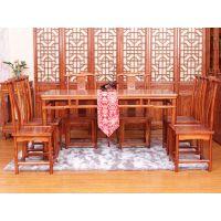 海德利专业定制餐饮家具 现代中式 实木家具餐桌椅组合