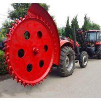 圆盘式开沟机厂家直销拖拉机后置旋转盘式可开挖各种坚固路面沟槽