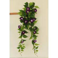 仿真壁挂 牵牛花紫罗兰绿萝壁挂 仿真花壁挂 挂饰假植物