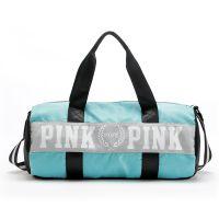 【健身包厂家贴牌定做logo】运动包女健身包旅行袋男圆筒单肩包斜挎手提旅行包