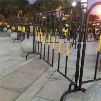 铁马围栏价格 1*1.5米黄黑颜色商场隔离栏 可移动市政铁马护栏