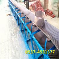 兴亚上下货爬坡皮带机 锦江流水工作运输机 液压杠升降输送机