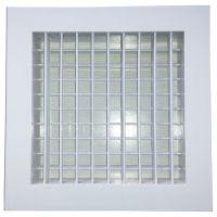 暖通系统设计安装-供应ABS双层百叶风口-自工厂生产安装